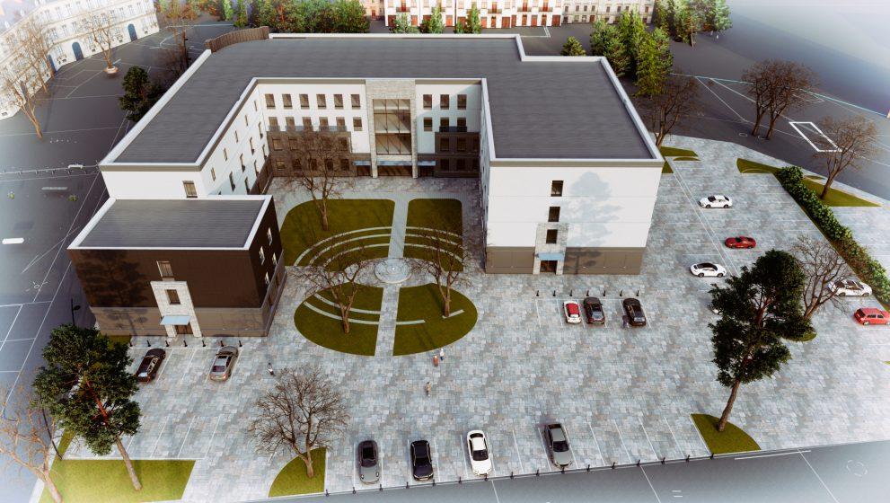Budynek administracji państwowej – projekt koncepcyjny